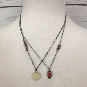 Lucky Brand Multi-Strand Floral Necklace